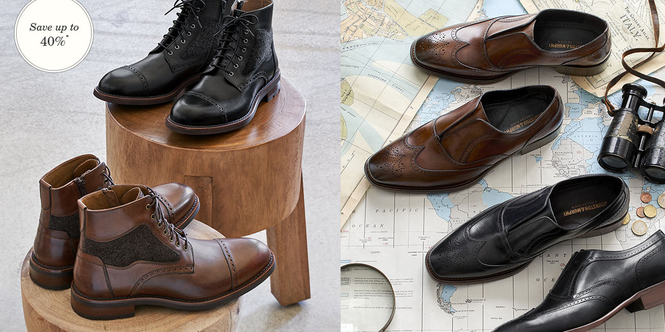 fe95d4ede7f Johnston & Murphy Final Clearance Event takes up to 40% off polished ...