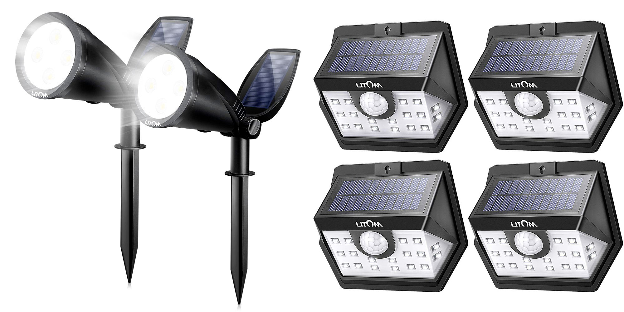 These solar lights are perfect for your backyard or landscaping from $12 shipped