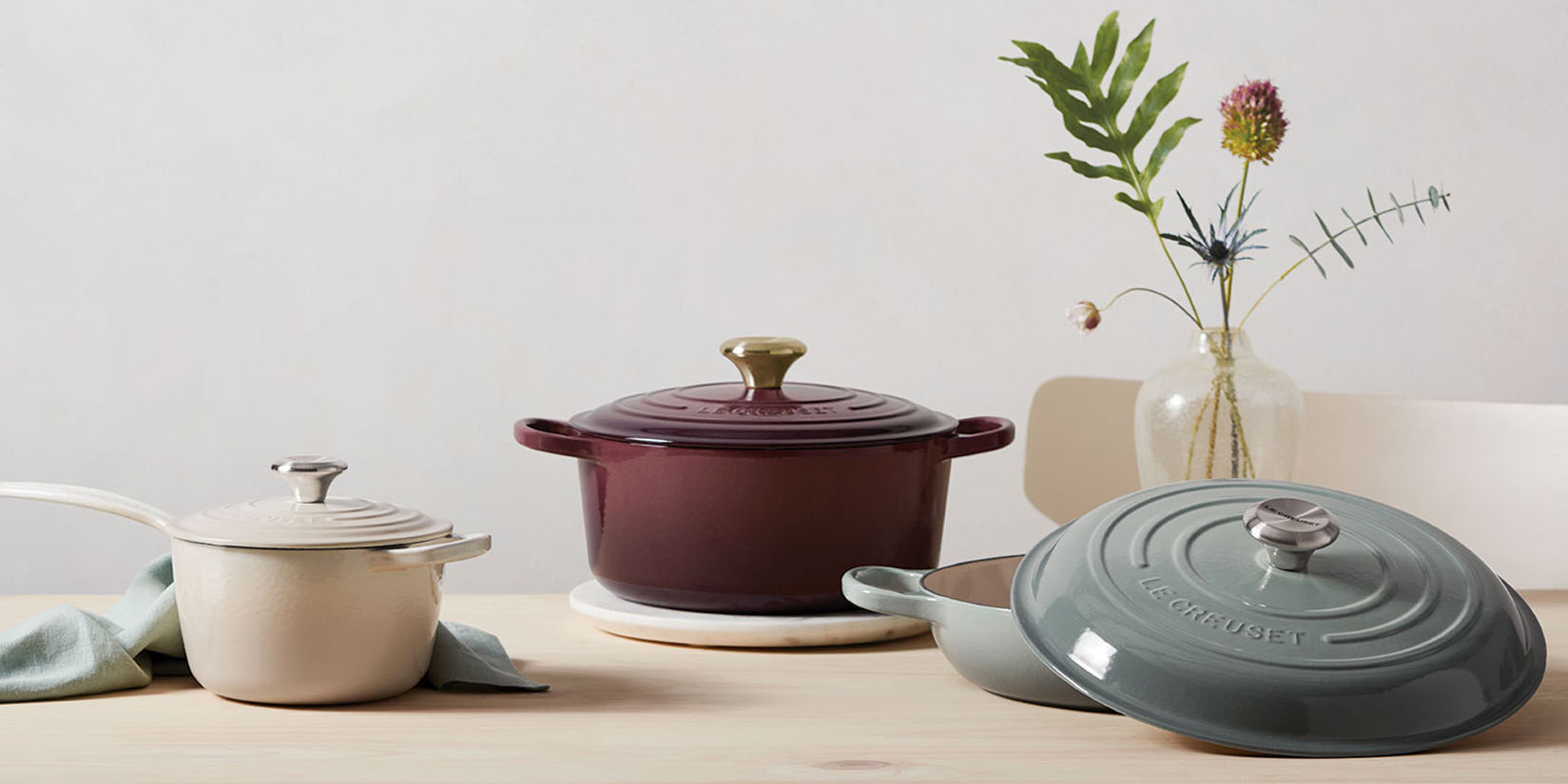Le Creuset's New Calming Spring Colors have arrived with neutral perfection