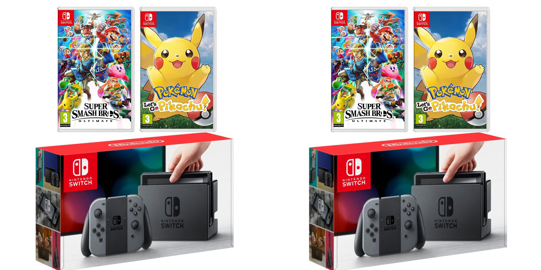 Nintendo Switch Console Bundles up to $70 off: Super Smash, Pokemon, Mario Bros. U, more