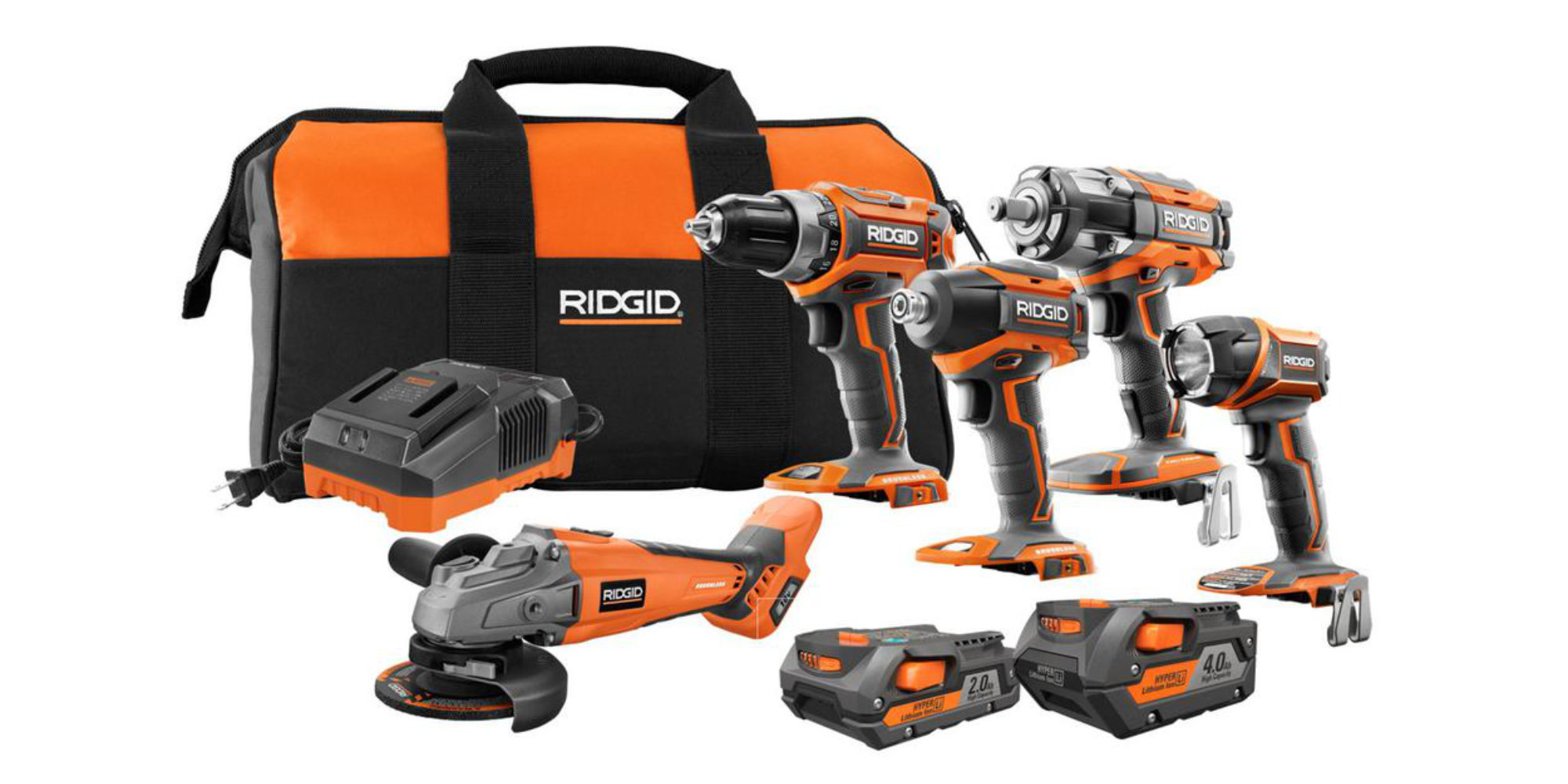 Nail down this RIDGID 18V 5-Tool Combo at its lowest price yet: $249 (25% off, today only)