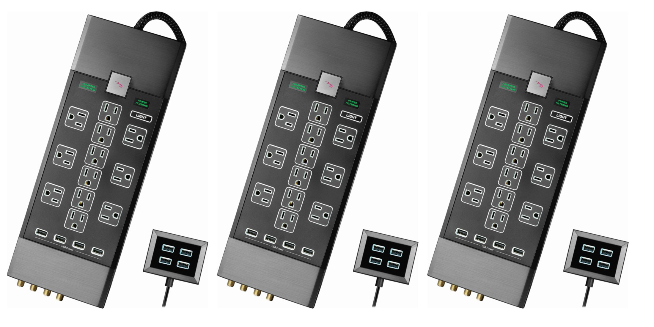 Rocketfish's 12-Outlet Surge Protector Strip + 4-port USB hub for $100 shipped (Reg. $150)