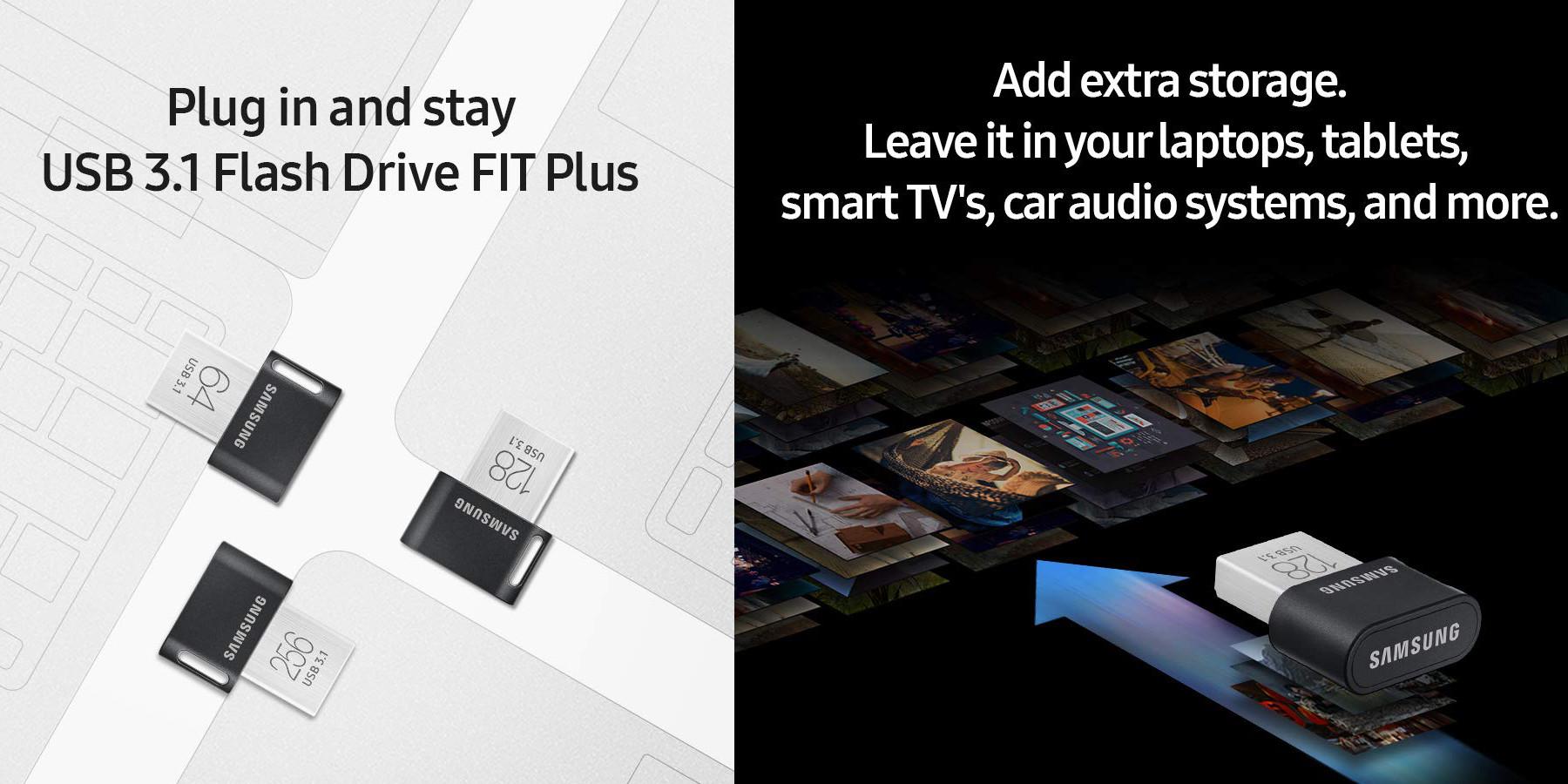 "The Samsung ""seamless fit"" 256GB Plus USB 3.1 Flash Drive falls to $45 (Reg. up to $60)"