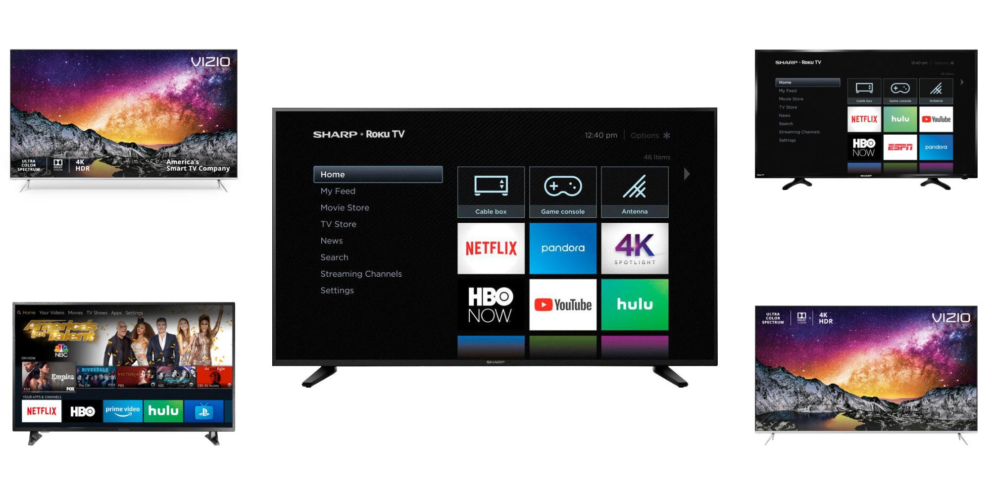 Today\u0027s best TV deals are Sharp\u0027s 58\u2033 4K at $350 (Reg. $550), Insignia 50\u2033 $280, more from $150 58\