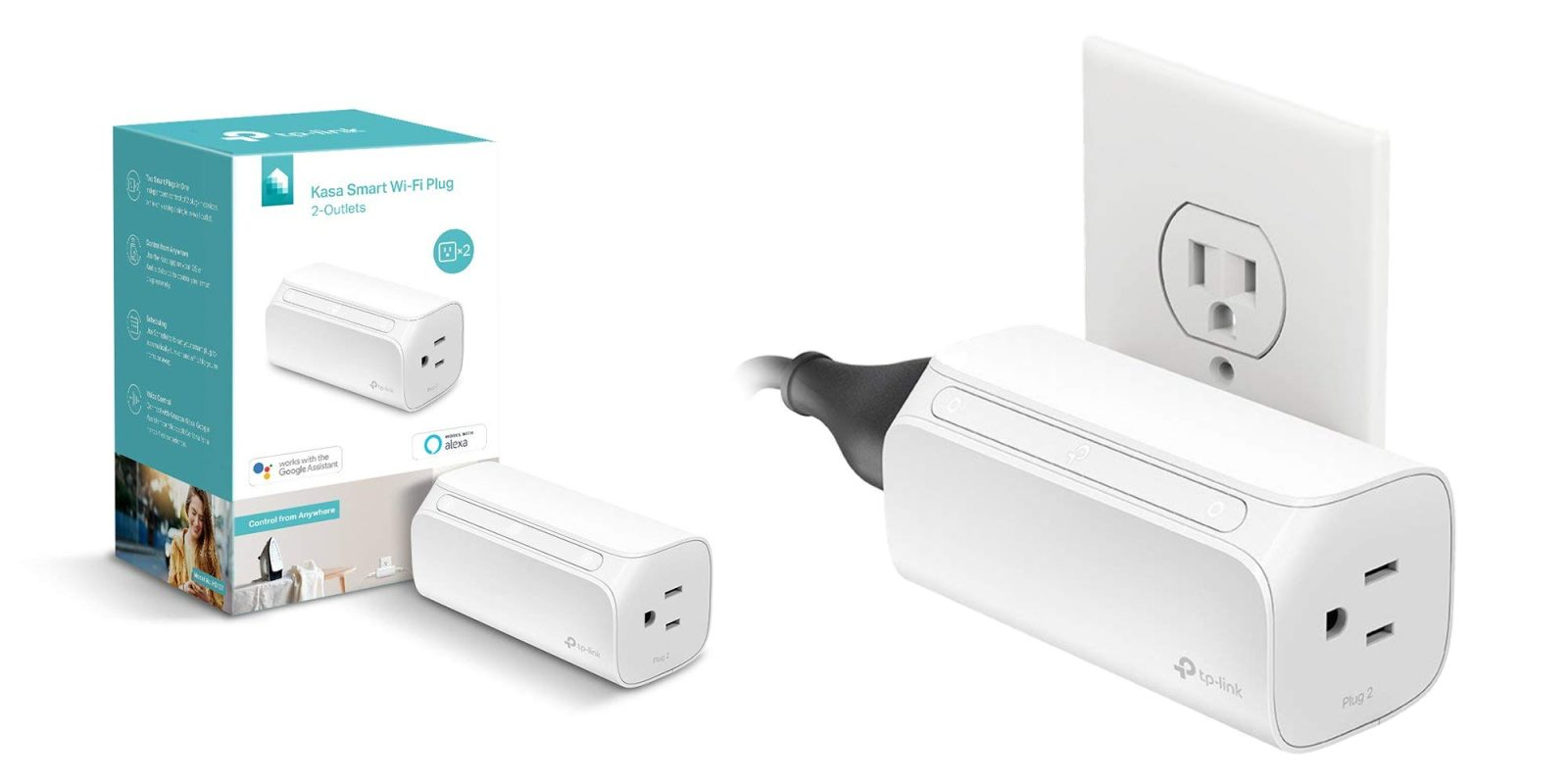 TP-Link's Two-Outlet Smart Plug has never sold for less at $21 (Reg. $30)