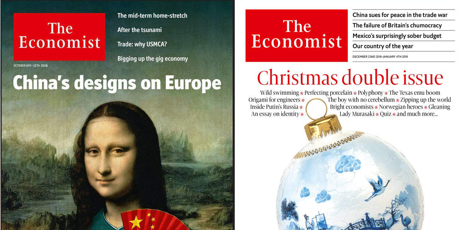 The Economist Magazine at over $100 off: 1-yr  for $50 w/ free