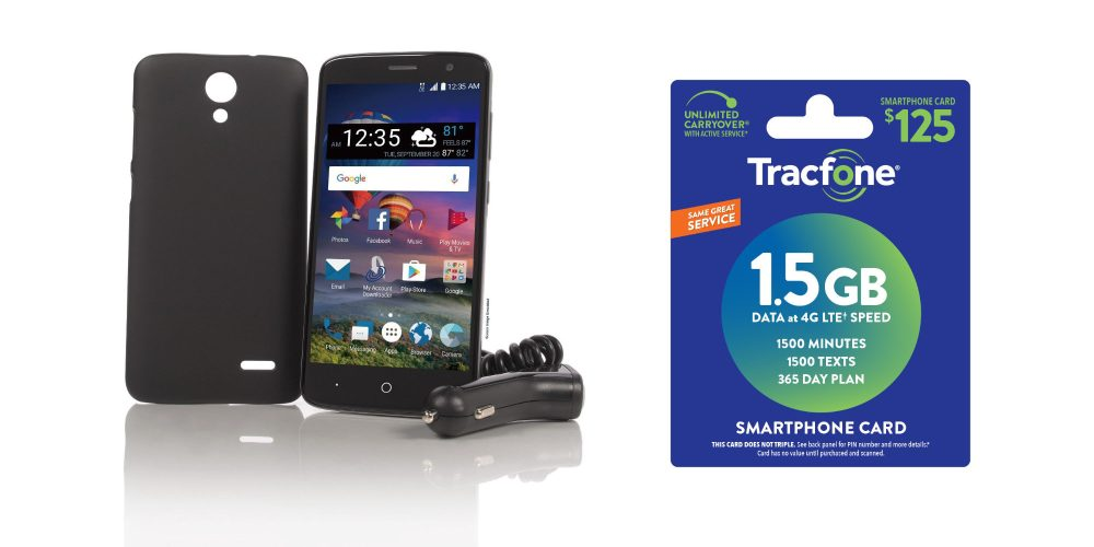 Grab a burner ZTE ZMax One Smartphone w/ 1-year of Tracfone