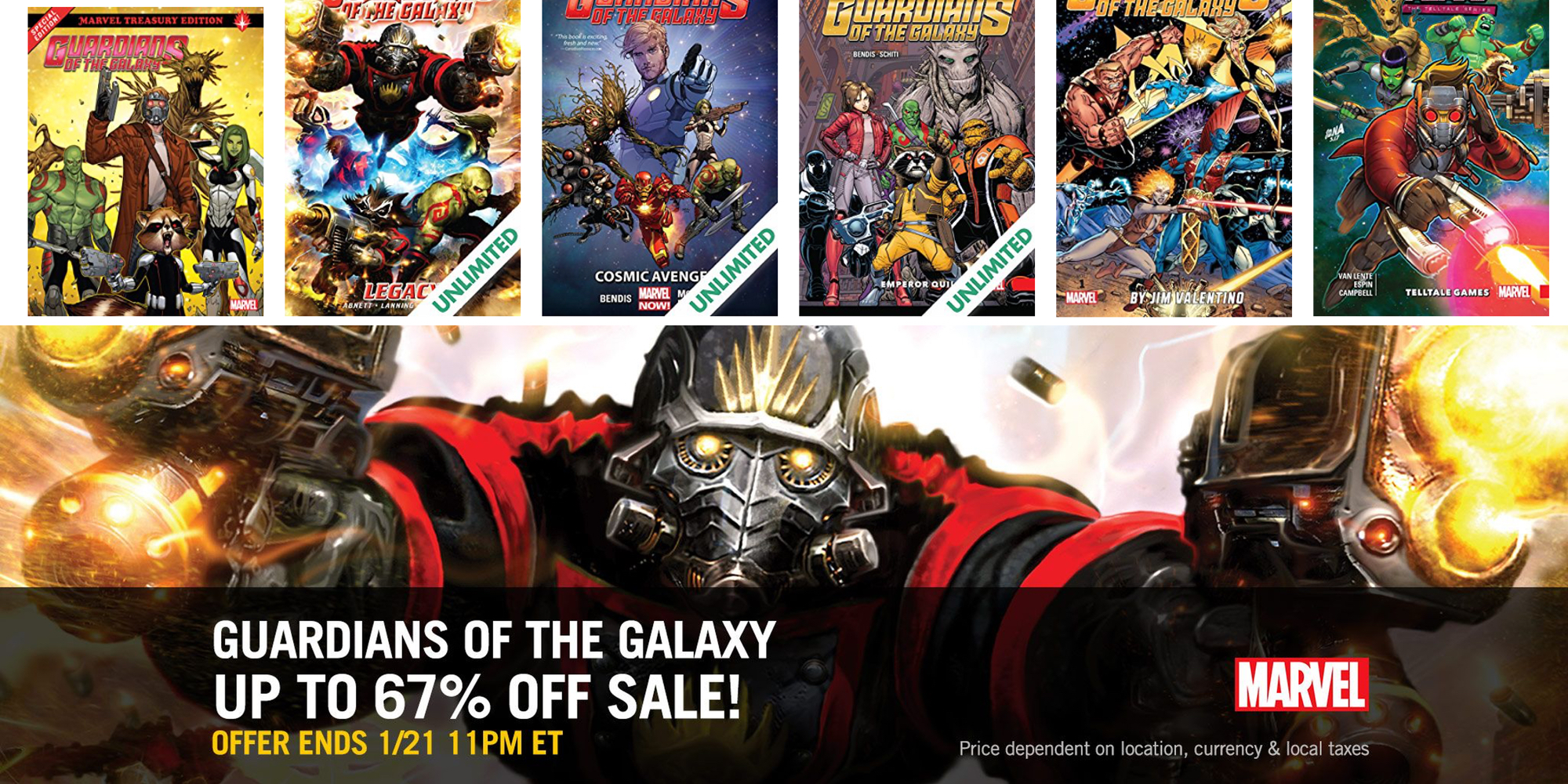 Save up to 67% on Guardians of the Galaxy digital comics and more from $1 at Comixology