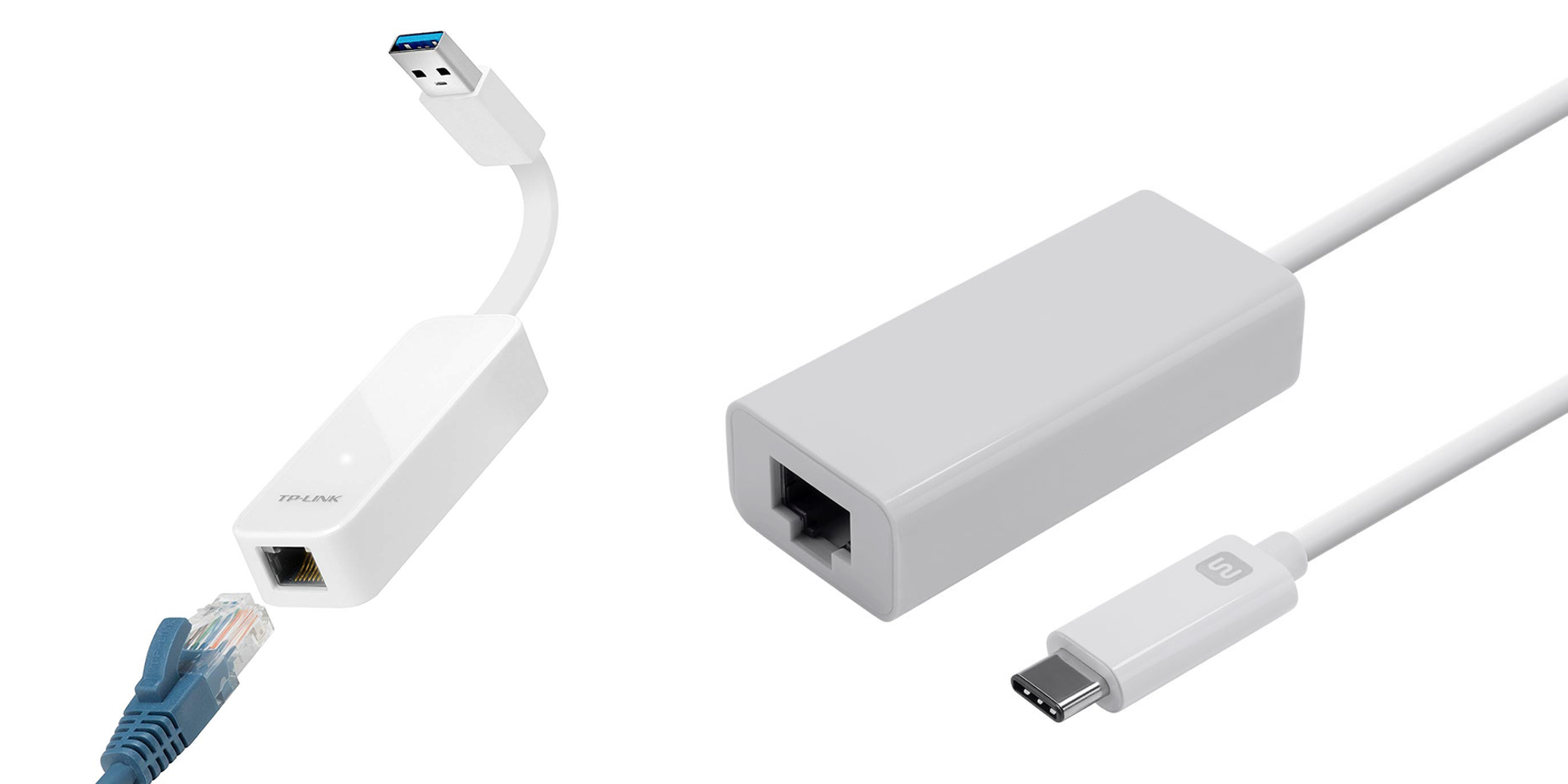 Bring Gigabit Ethernet to your Mac with these adapters: USB 3.0 $11 or two USB-C for $10