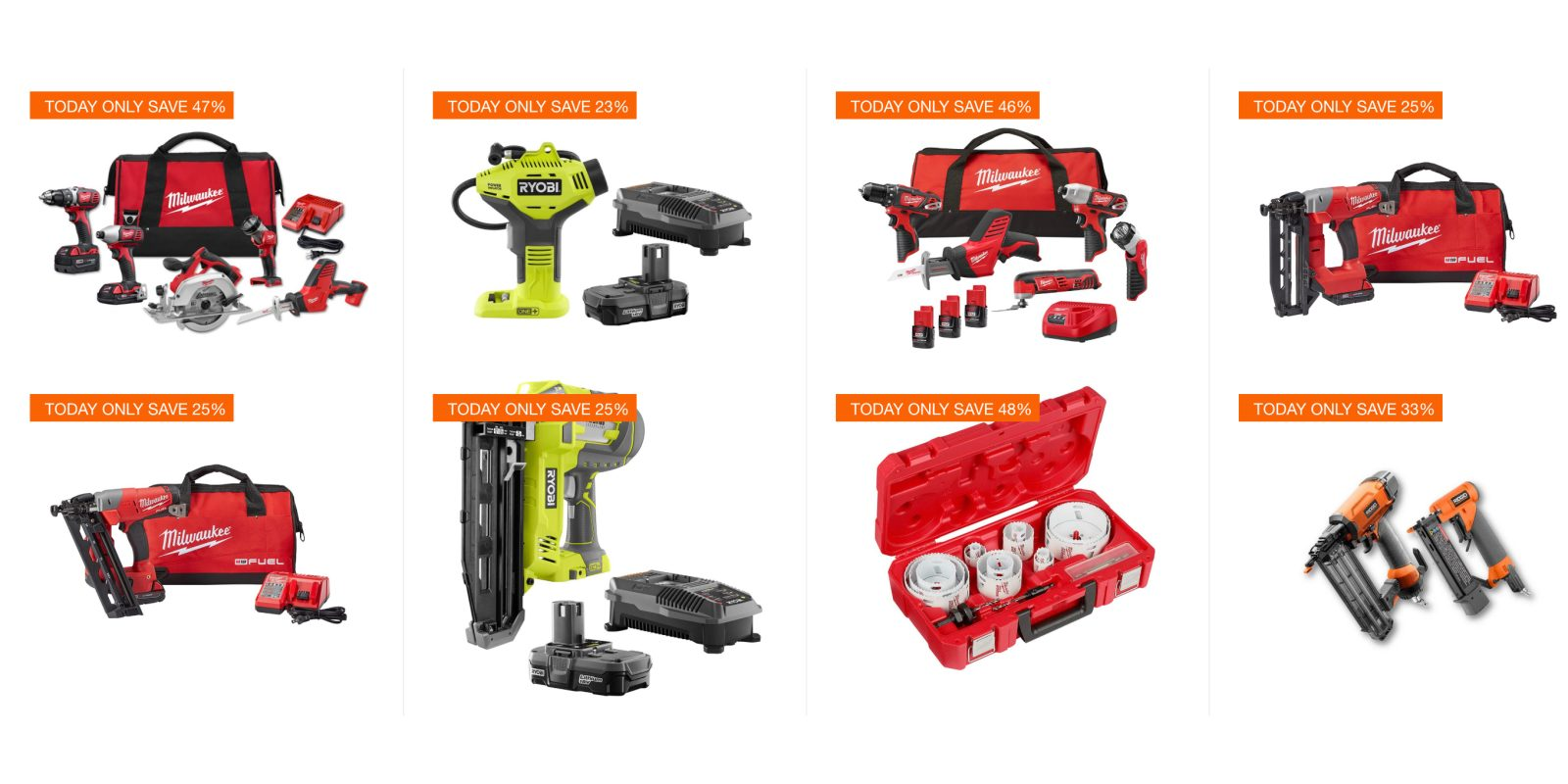 Don T Miss Home Depot S 1 Day Ryobi And Milwaukee Tool Sale