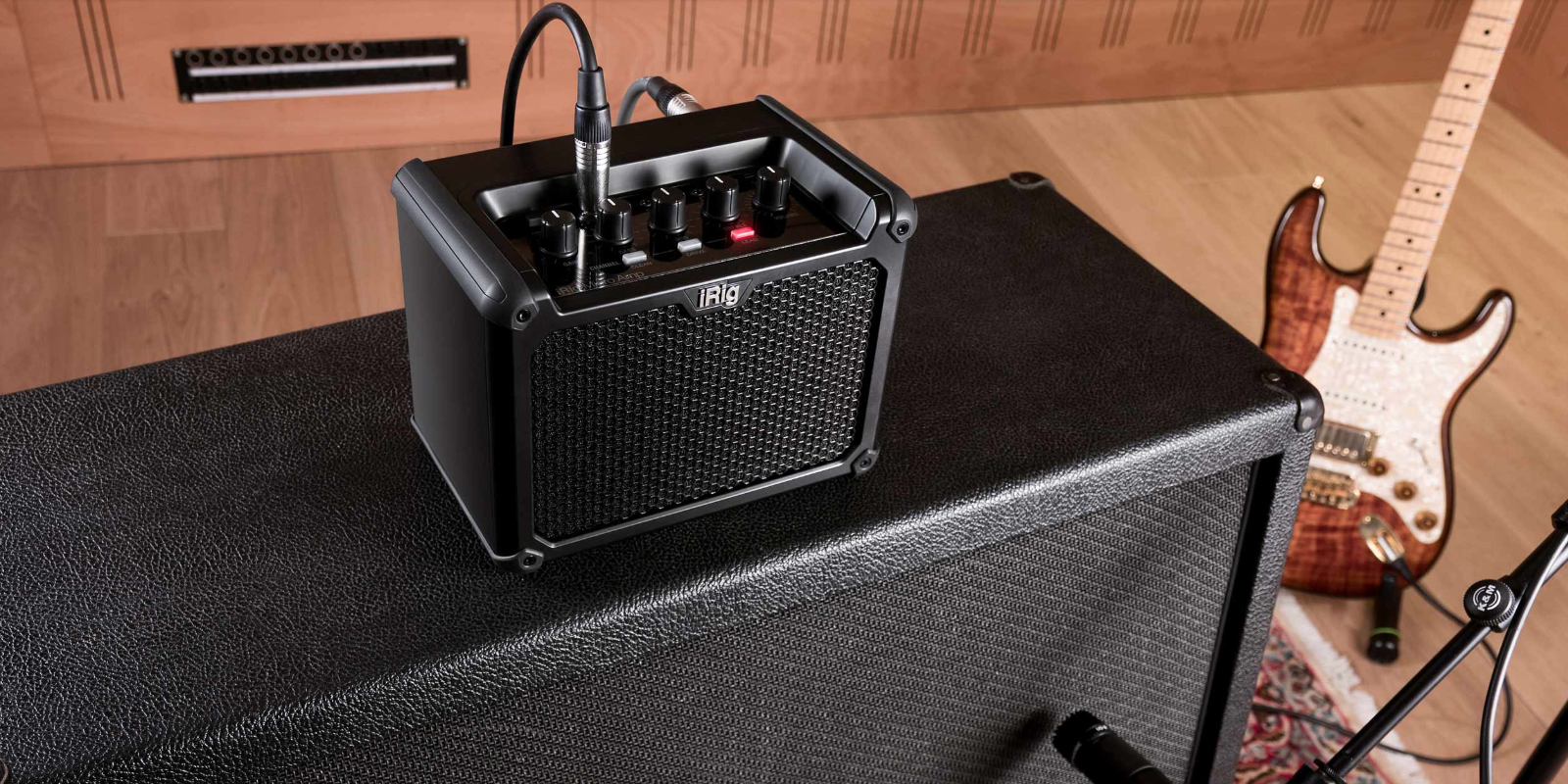 IK's new iRig Micro Amp doubles as an iOS/Mac recording interface w/ software processing