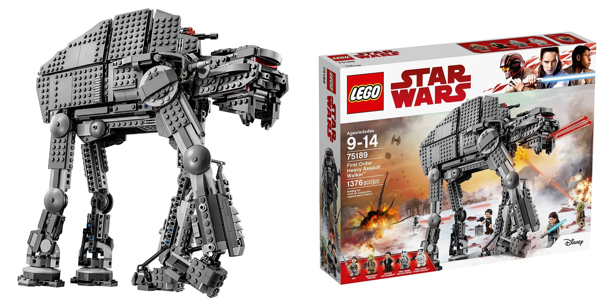 LEGO's 1,400-piece First Order Heavy Assault Walker is down to a new low: $110 ($40 off), more