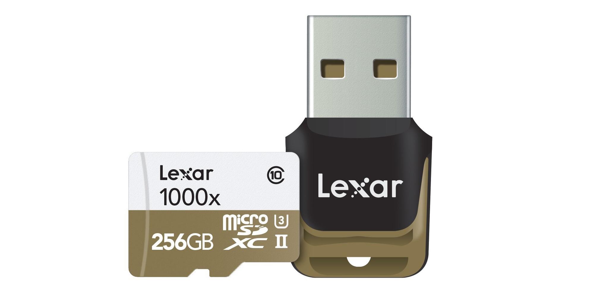 Lexar's Professional microSDXC 256GB Card sports 150MBps transfer speeds at $180 (30% off)
