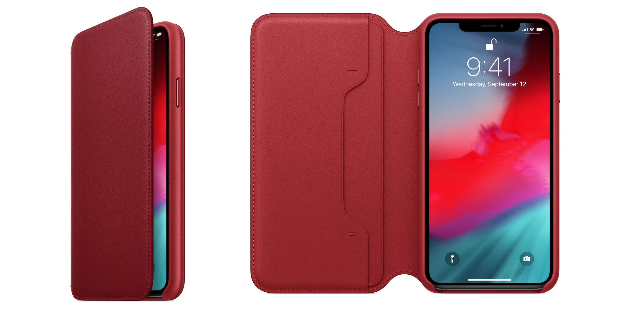 Wrap your iPhone XS Max in Apple's official (PRODUCT)RED Leather Folio at $95 (Reg. $129)