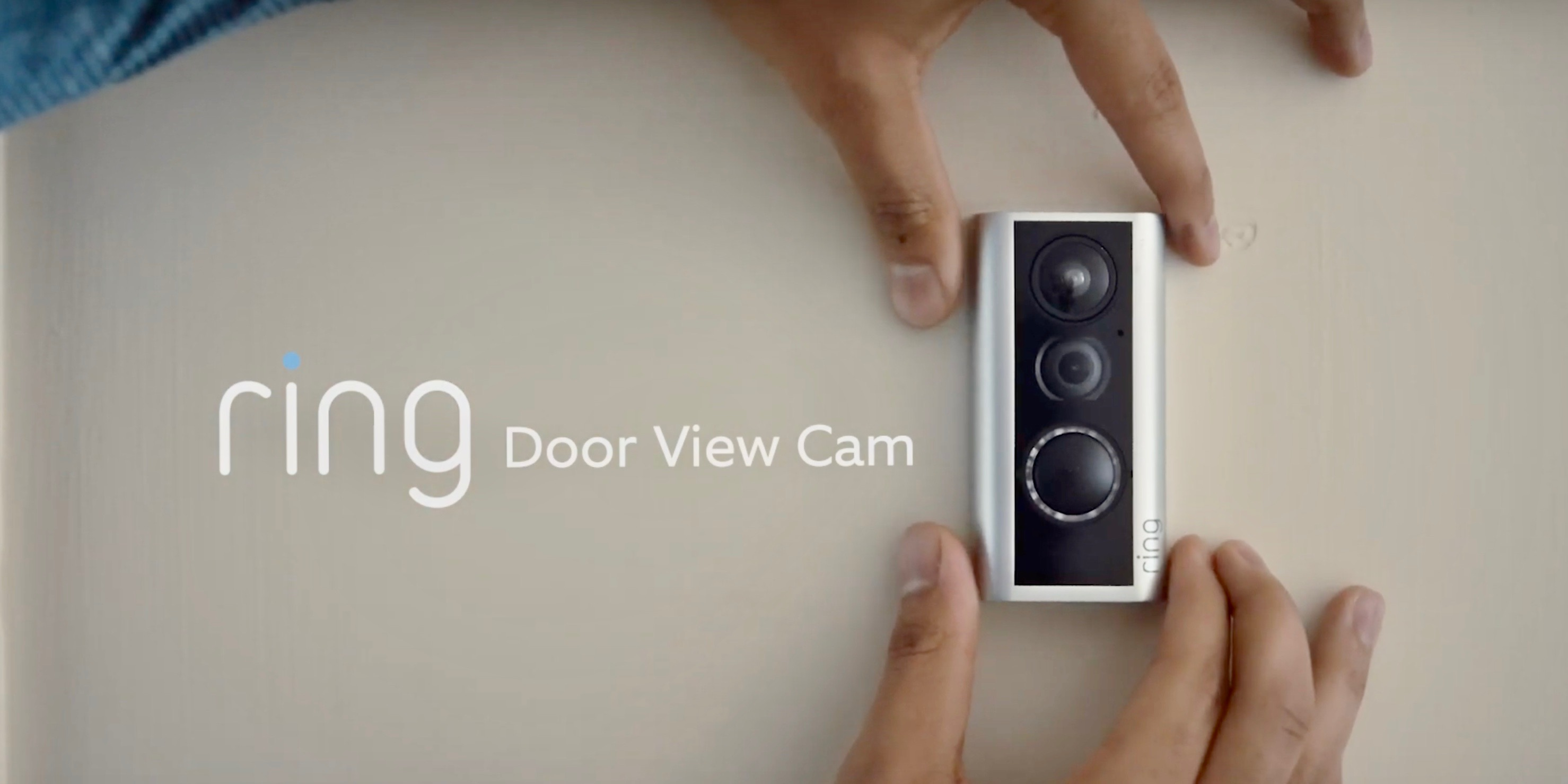 Ring's Door View Cam installs w/o wiring or drilling in peephole + smart lighting, more