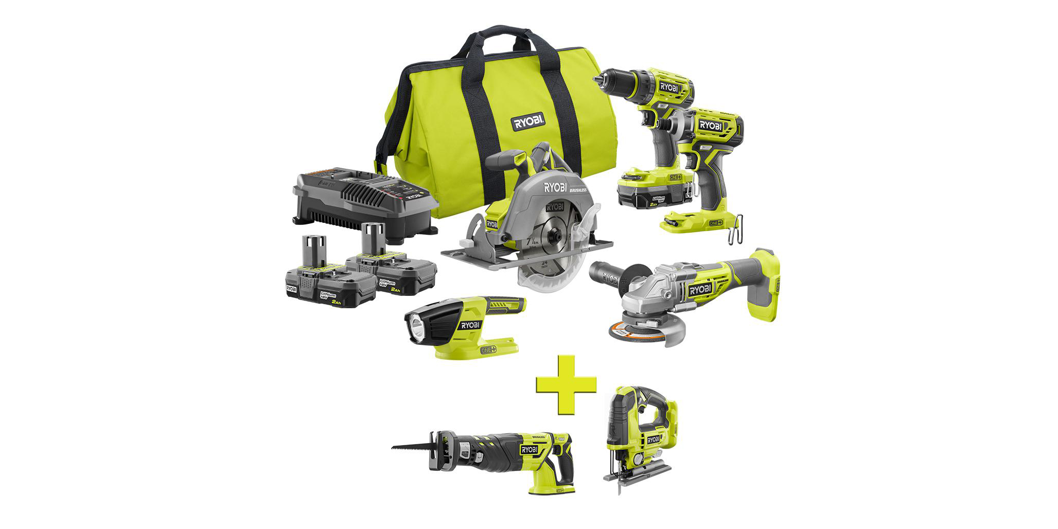 This Ryobi bundled includes 7 tools, three batteries and more for $299 ($575 value)