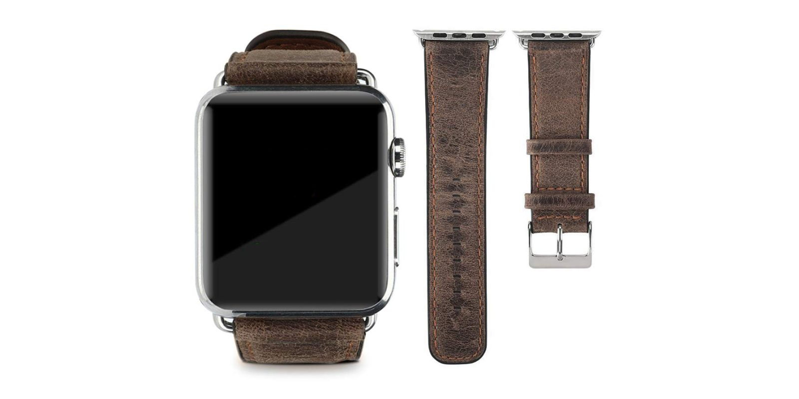 Strap on a leather Apple Watch band for just $5 via Amazon