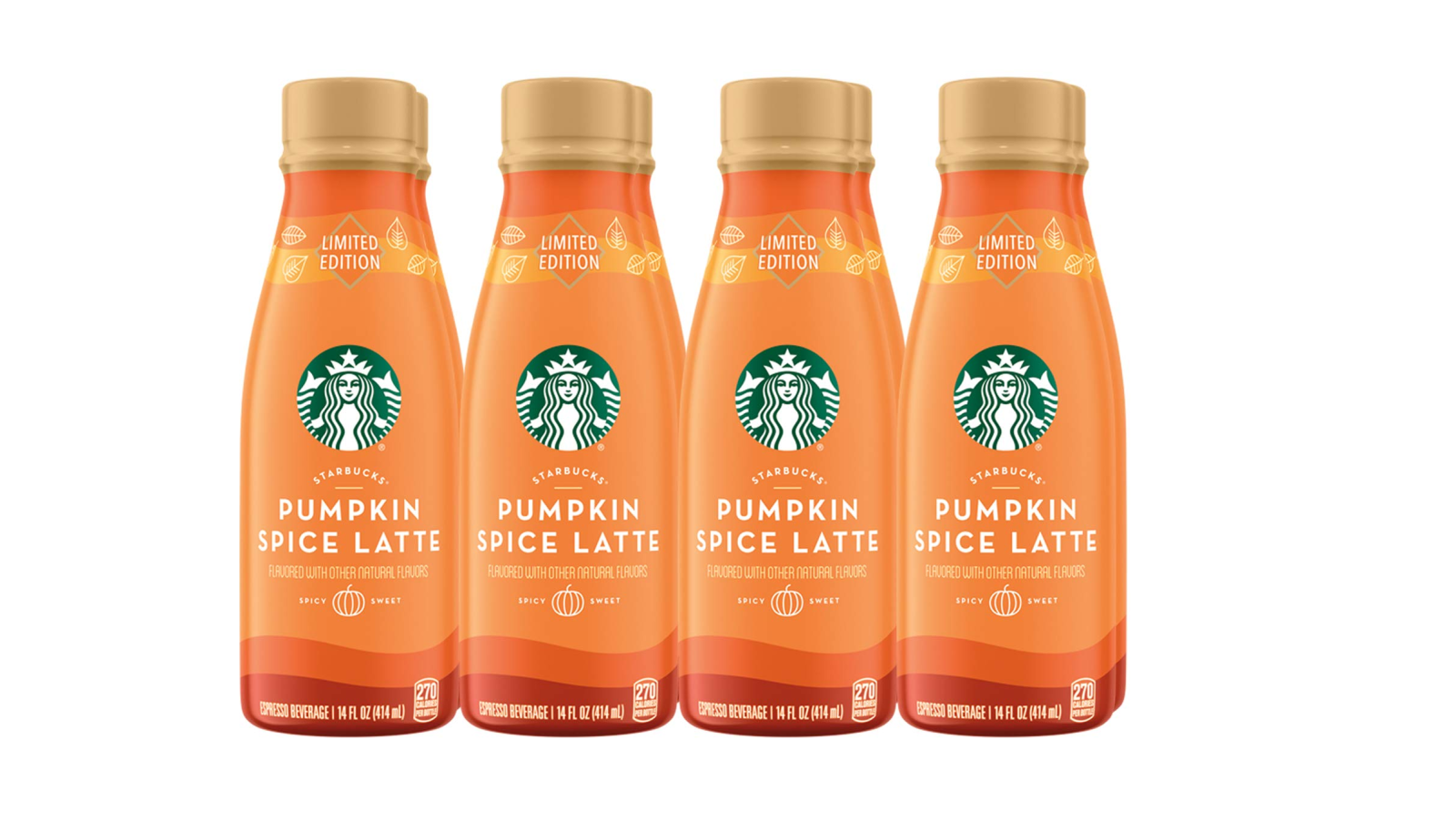 Enjoy Starbucks Iced Pumpkin Spice Lattes any time with 8 bottles for $9.50 (Reg. $20)