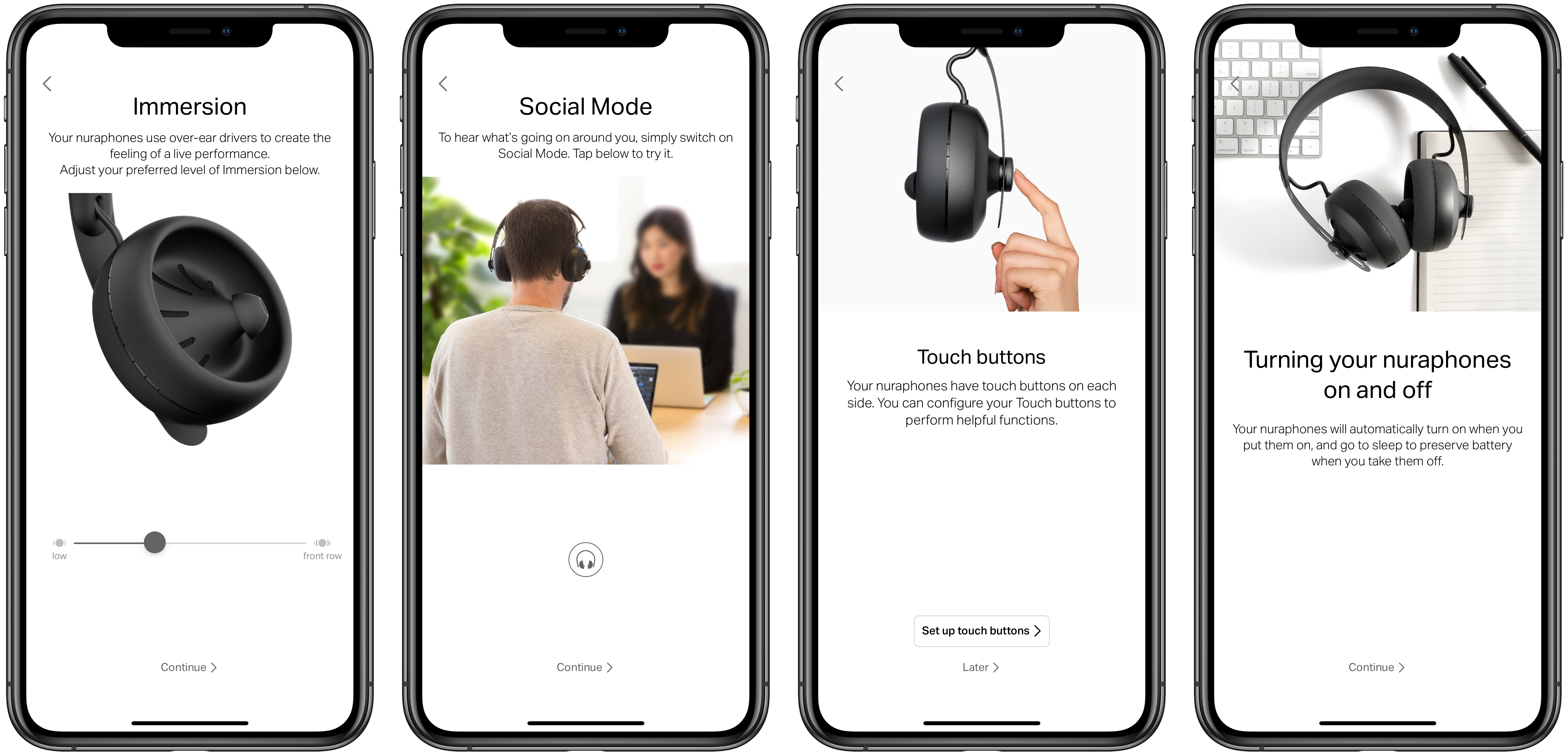 nuraphone hearing test (bottom) app