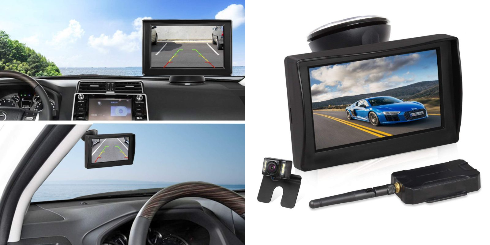 this wireless backup camera kit installs quickly and. Black Bedroom Furniture Sets. Home Design Ideas