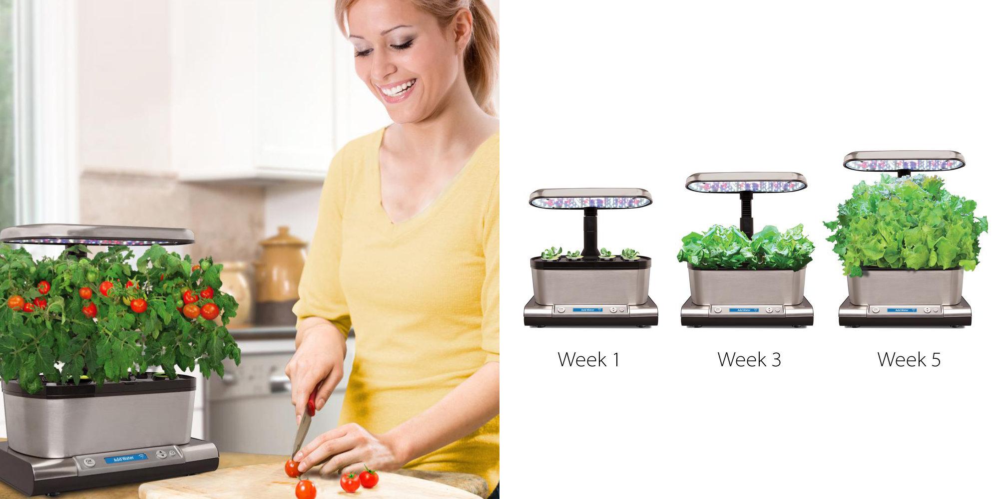 Grow veggies using an iPhone w/ AeroGarden's Harvest Elite for $100 (50% off), more