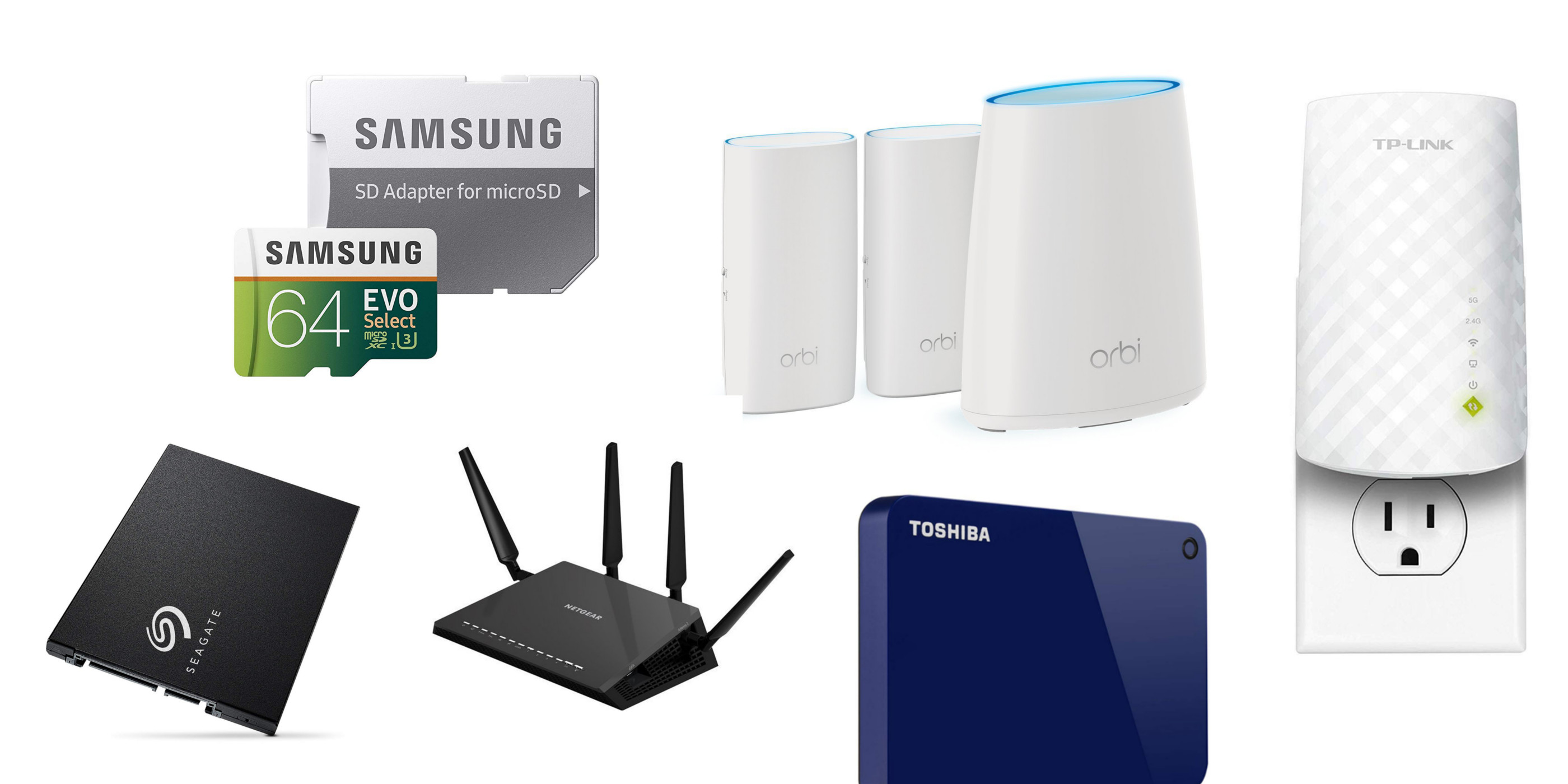 Amazon 1-day storage/networking sale from $8: routers, desktop drives, SSD, mesh Wi-Fi, more