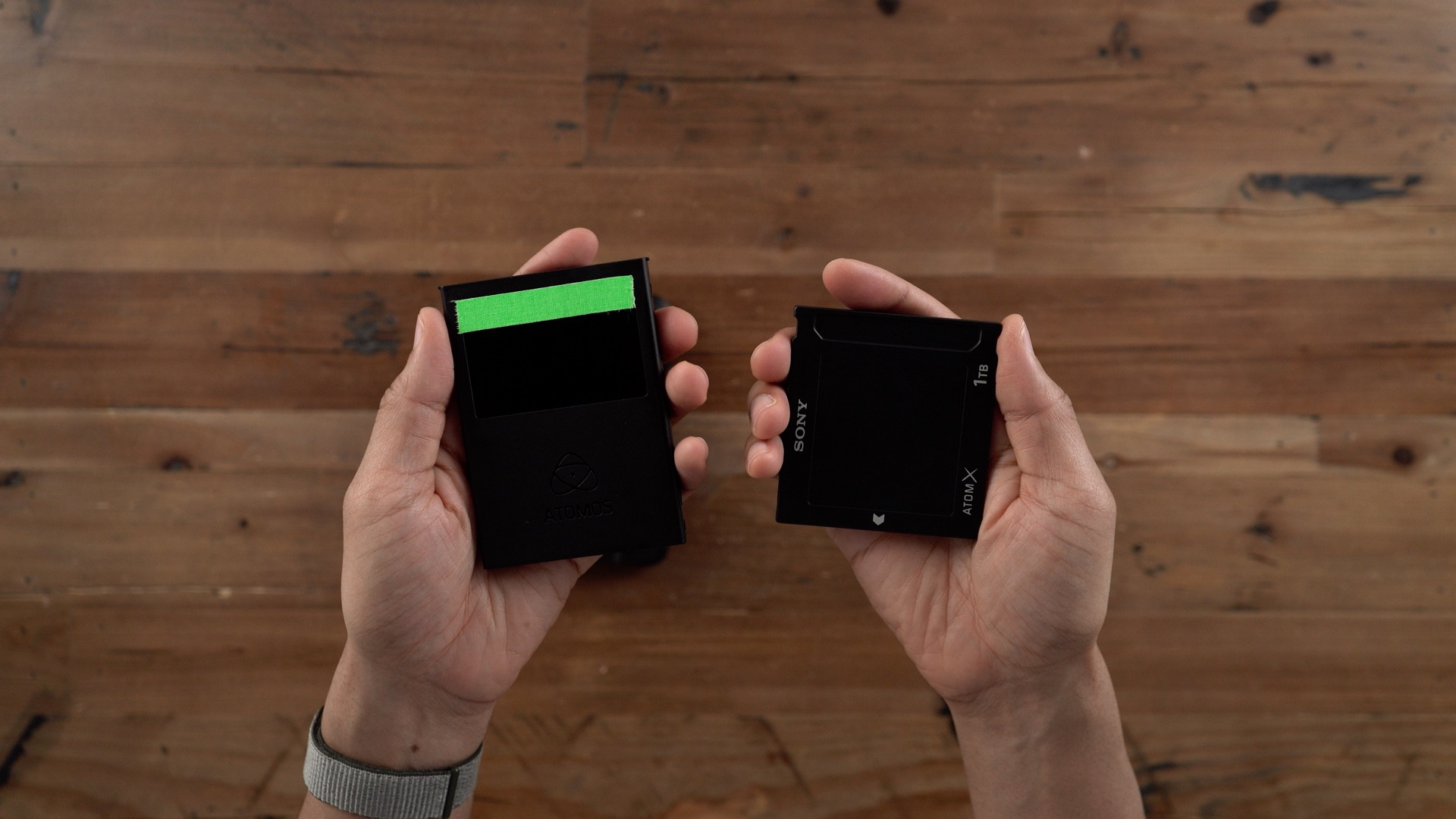 Atomos Ninja V Sony SSDmini vs MasterCaddy II