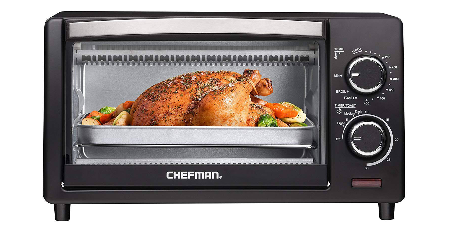 Put A Brand New Chefman 4 Slice Toaster Oven On Your