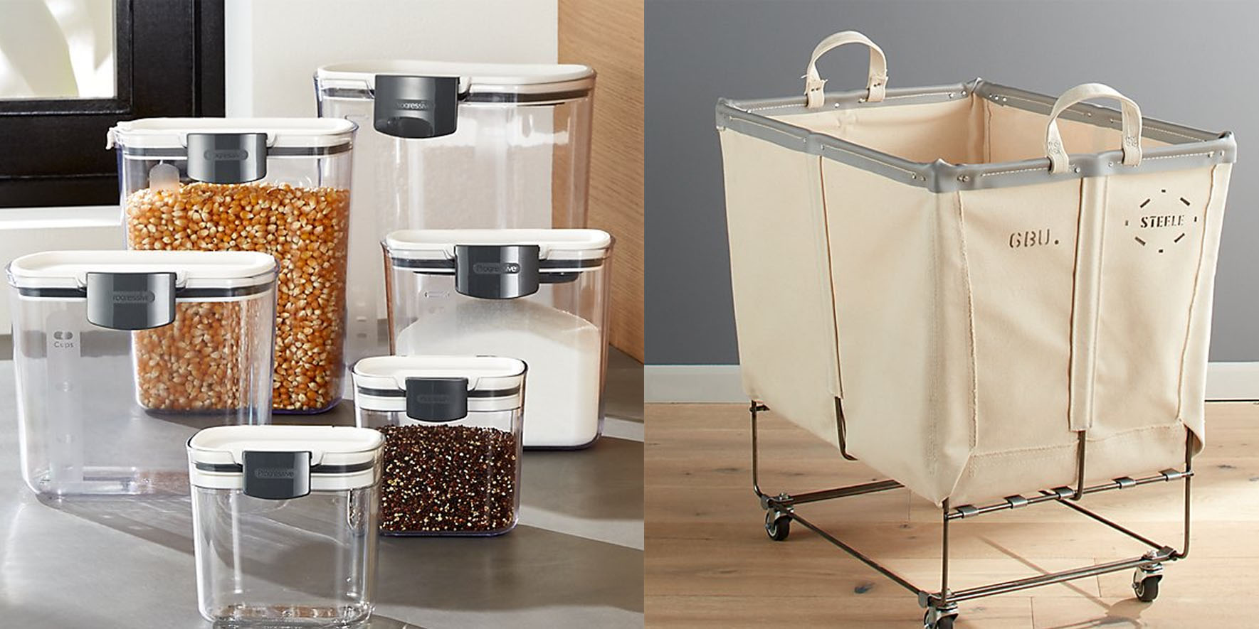 Crate & Barrel Spring Cleaning Event cuts 20% off trash cans, laundry hampers, organizers, more