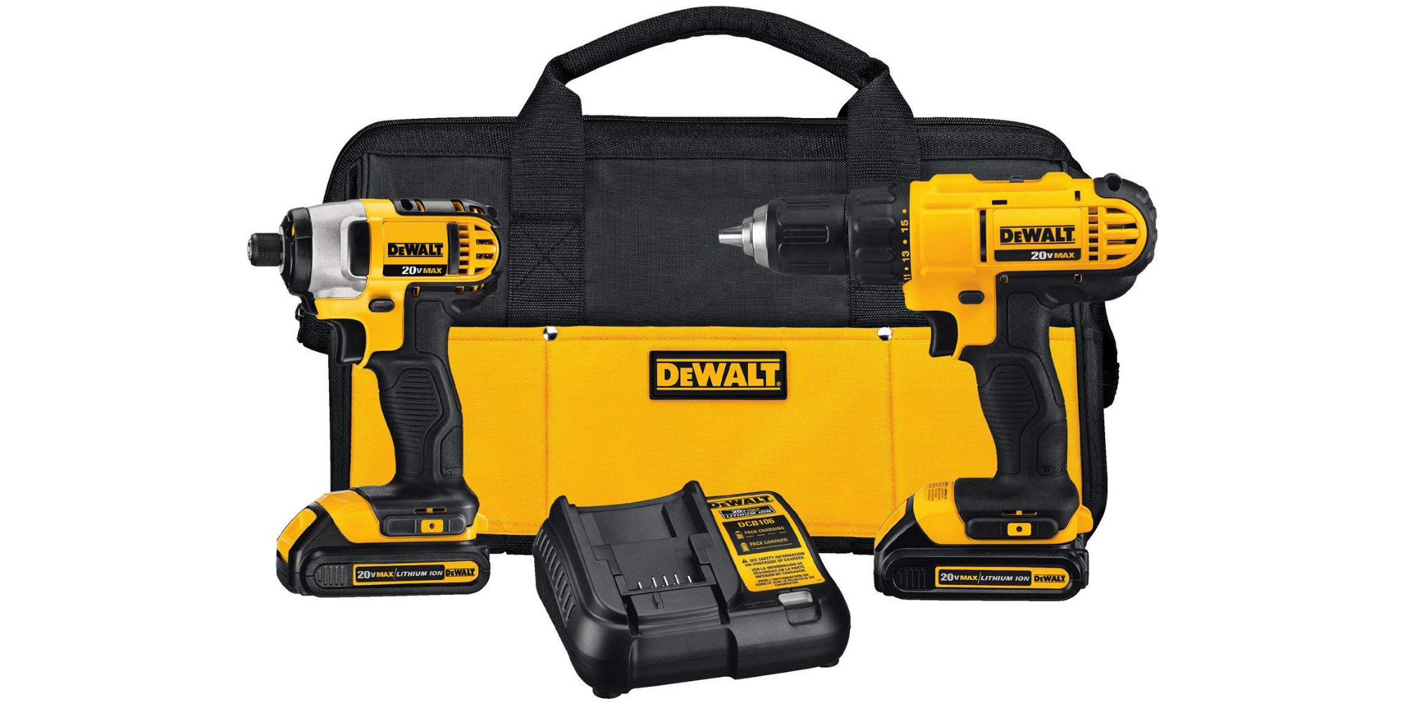 This DEWALT Drill/Impact Driver Combo Kit includes two batteries: $139 at Amazon ($50 off)