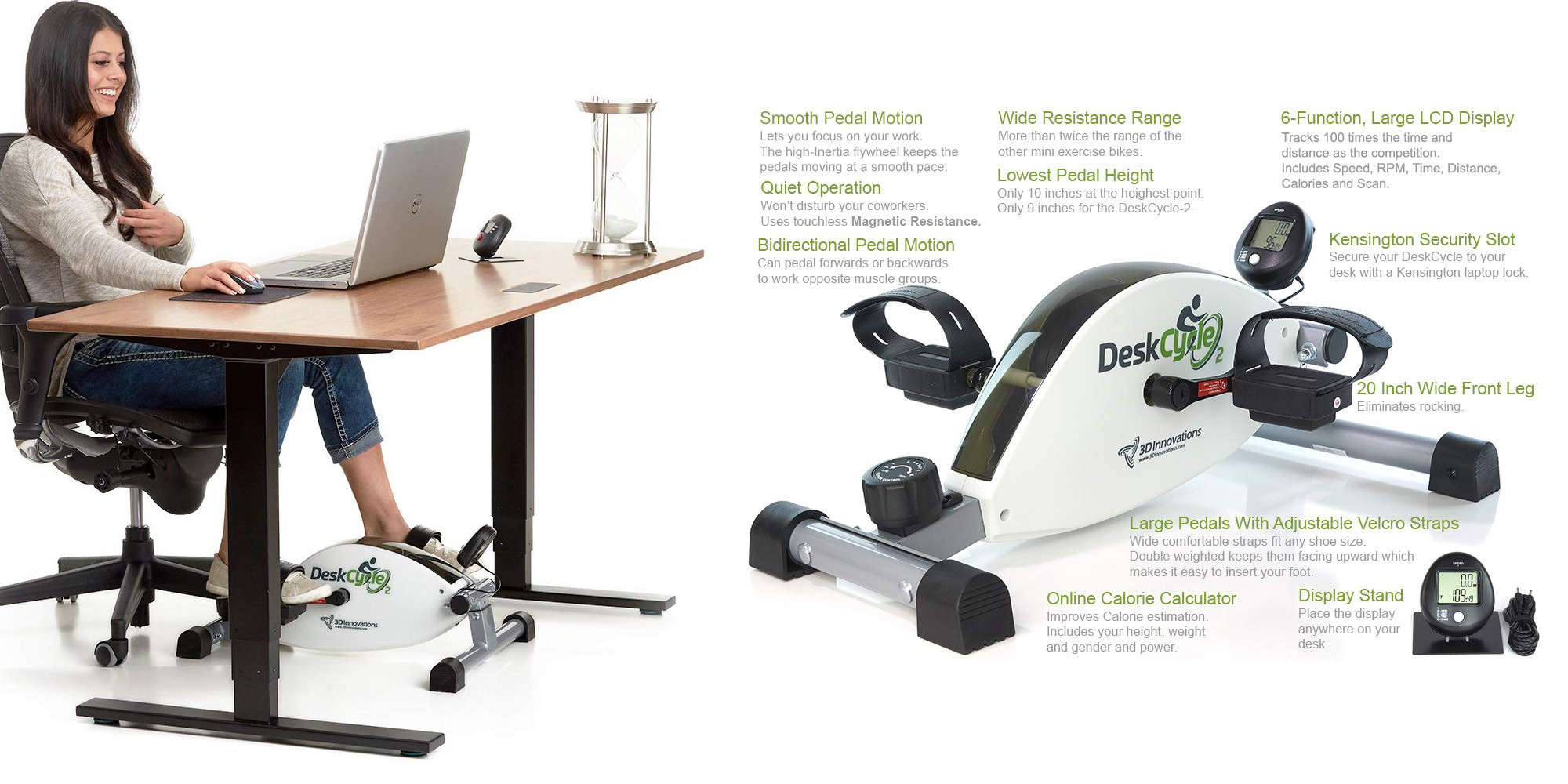Add The Deskcycle 2 Under Desk Exercise Bike To Your
