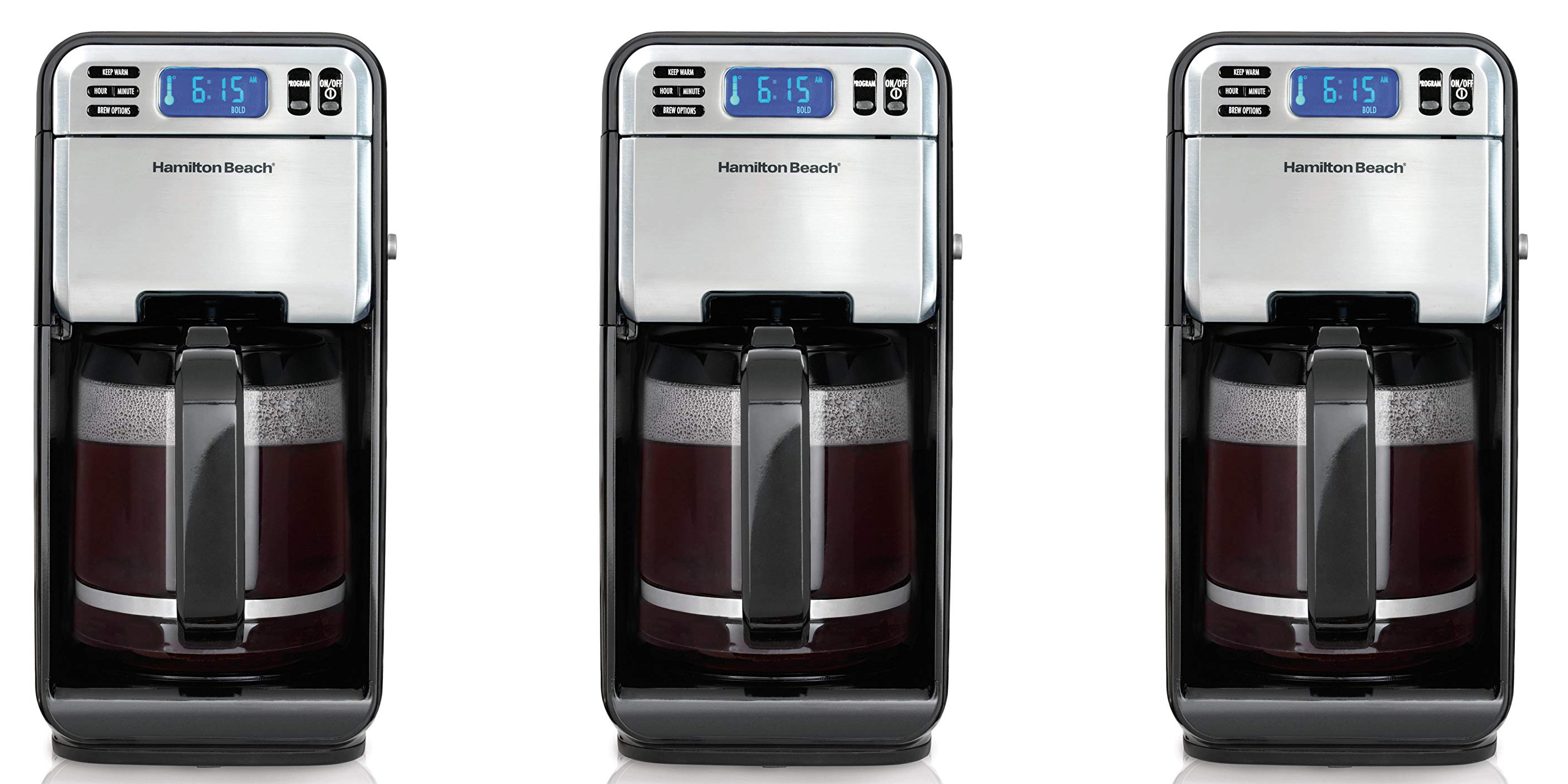 Hamilton Beach's 12-Cup Coffee Maker w/ LCD display is down to $28 shipped (Reg. $40+)