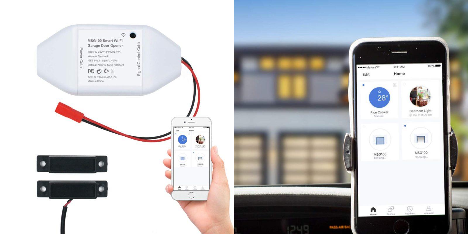 Meross Smart Wi-Fi Garage Door Opener is on sale today for $40 (Reg