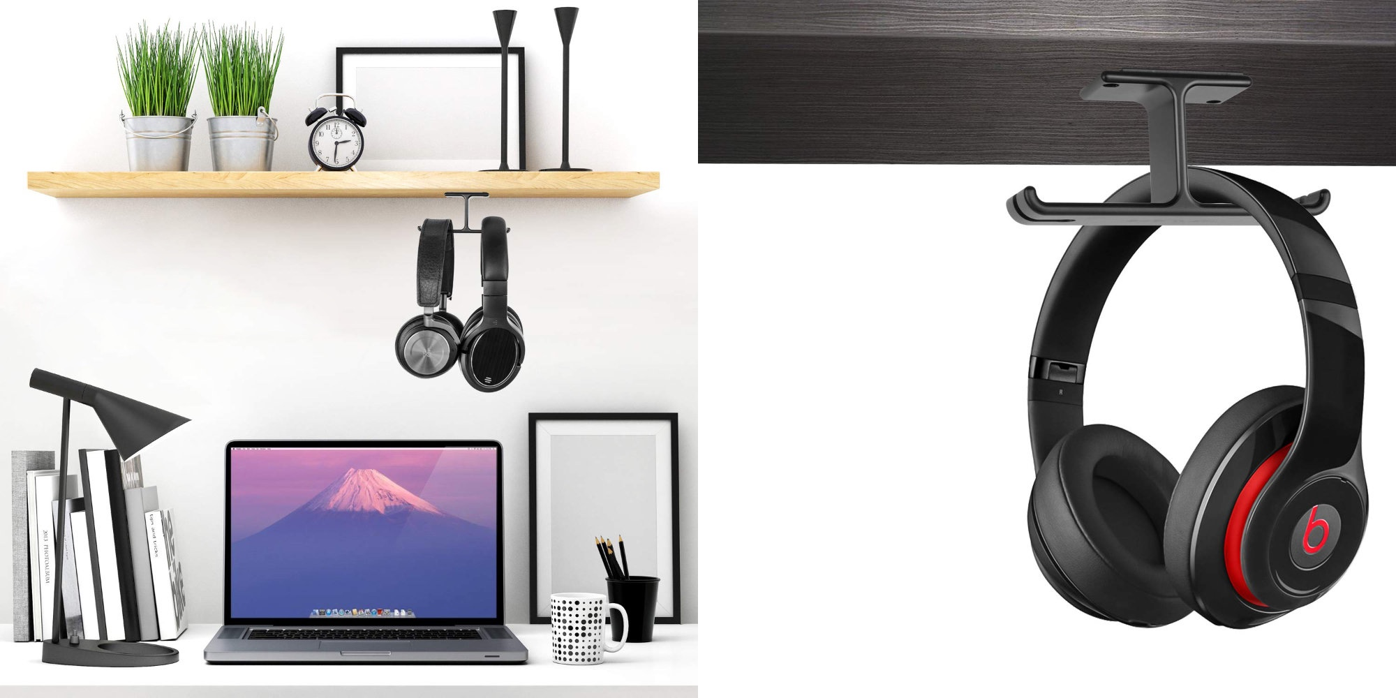 Reduce some of that clutter atop your desk w/ this headphone hanger for just $4 (55% off)