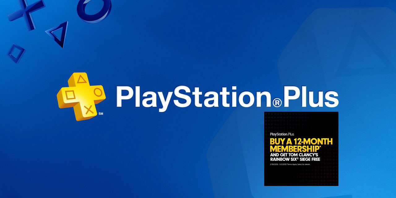 Sony now offering FREE copies of Rainbow Six Siege w/ 1-yr. PlayStation Plus purchases