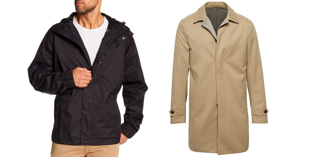 Spring rain jackets for men