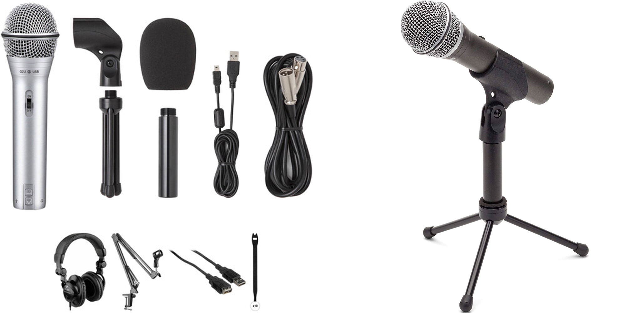 Begin a podcasting, voiceover, or YouTube career w/ Samson's Q2U USB bundle: $70 ($115+ value)