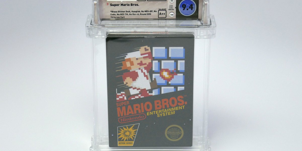 The original Super Mario Bros.is now the most expensive game ever sold