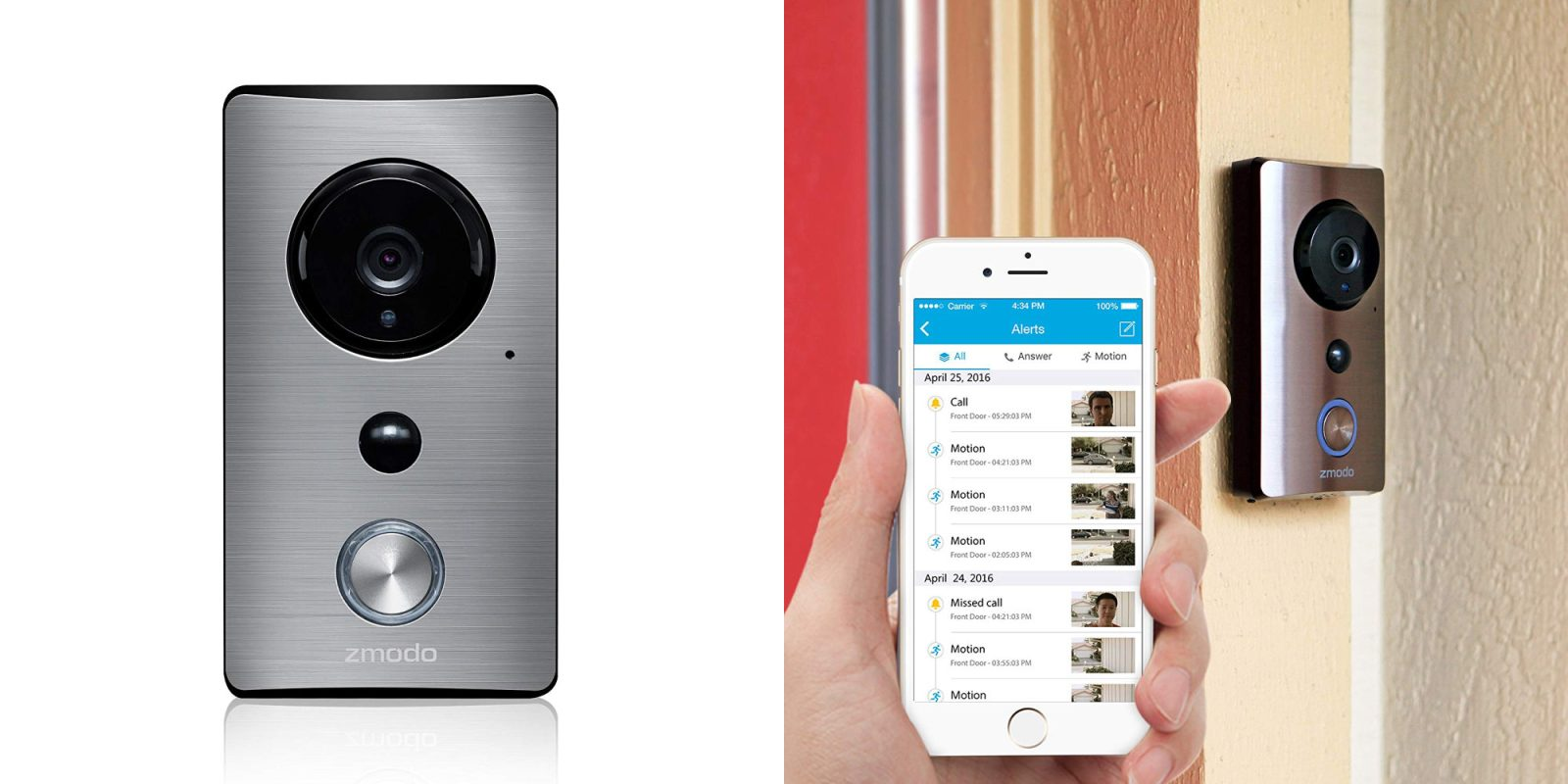 Catch package thieves in the act w/ a sleek Zmodo Video