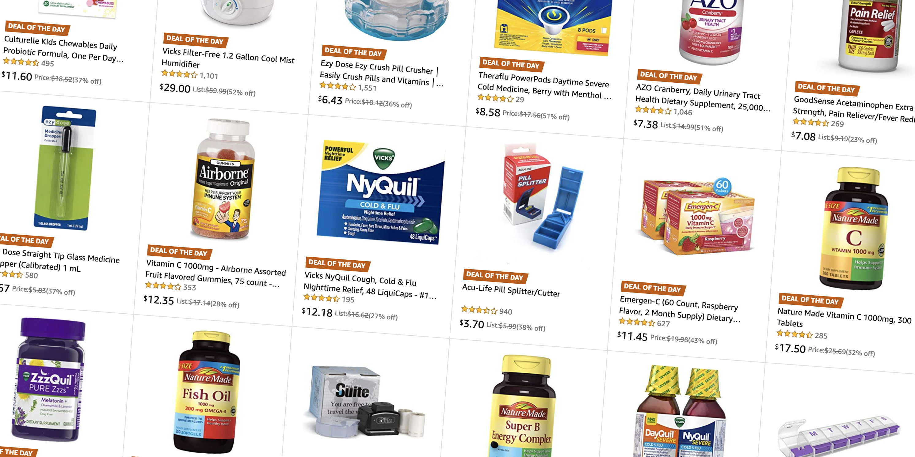 Amazon takes 20% off cold and flu essentials from $3.50 in today's Gold Box