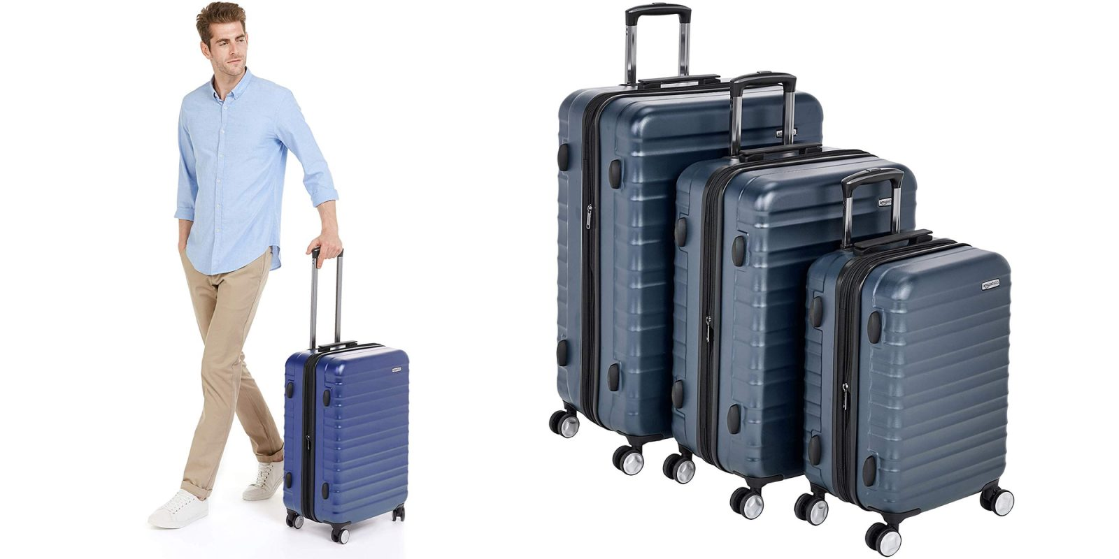 bff9f7d91e6b Score a three-piece set of AmazonBasics Hardside Luggage from  162 (Reg.   199