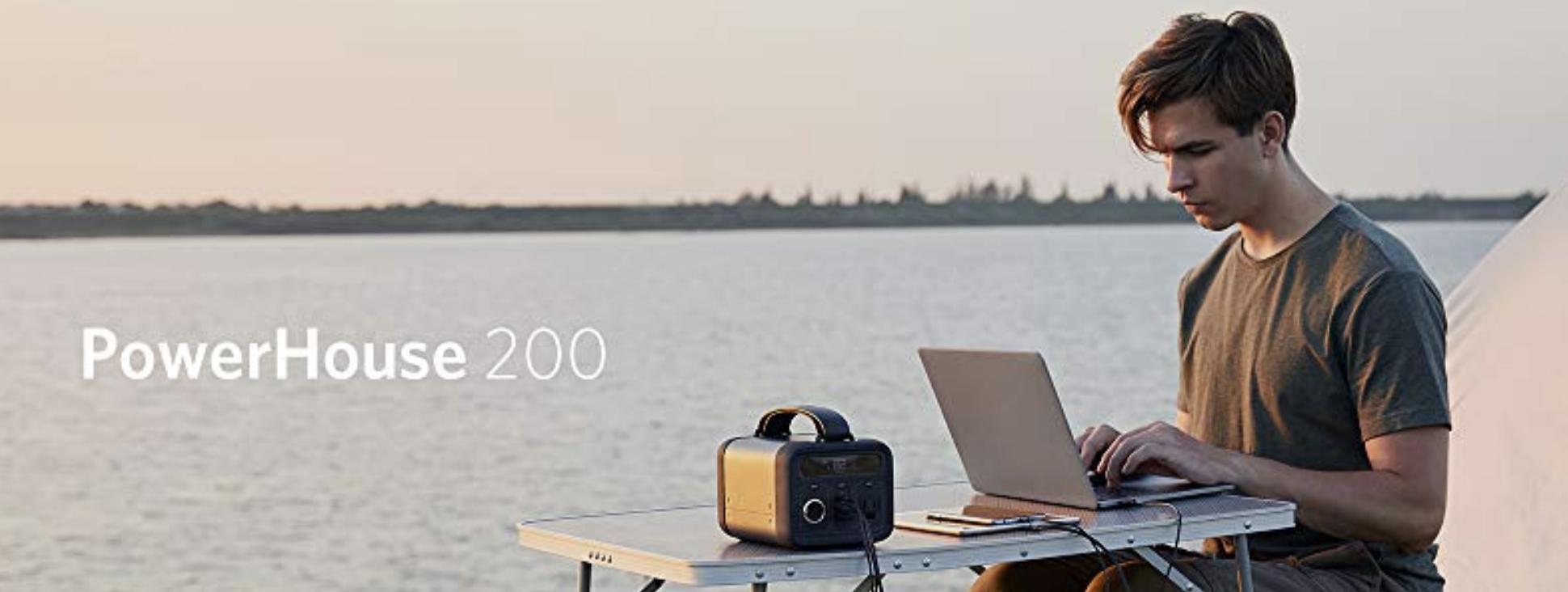 Anker Powerhouse 200 charging MacBook