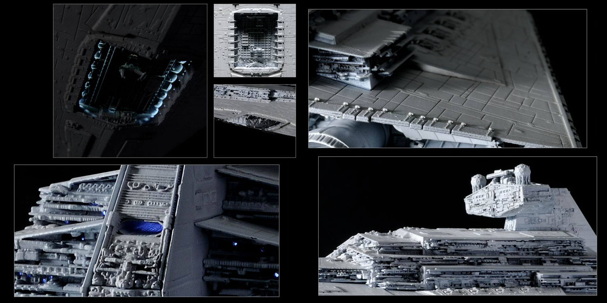 Close up shots of the Bandai Star Destroyer