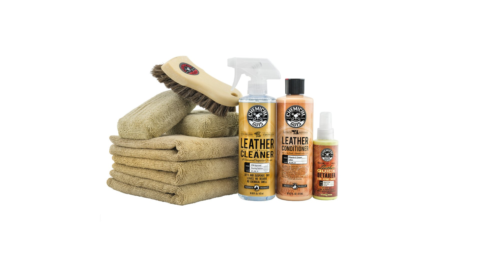Save 20% on this well-rated Chemical Guys Leather Care Kit, now at an Amazon all-time low of $40