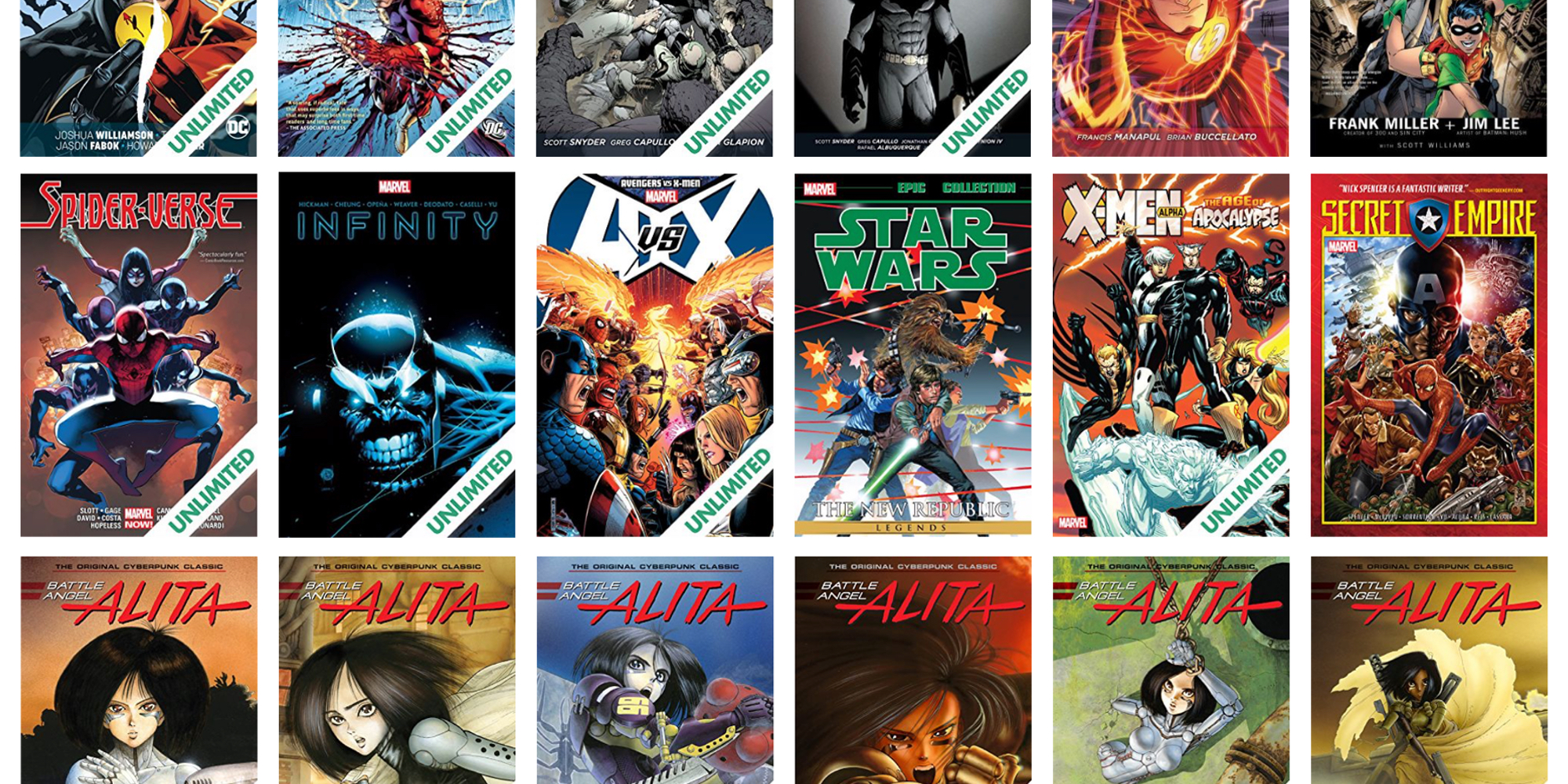 ComiXology's latest sale takes up to 80% off Marvel collections, Batman, Alita: Battle Angel, more