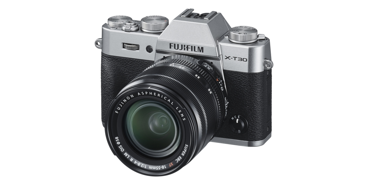 Fuljifilm X-t30 shown from front