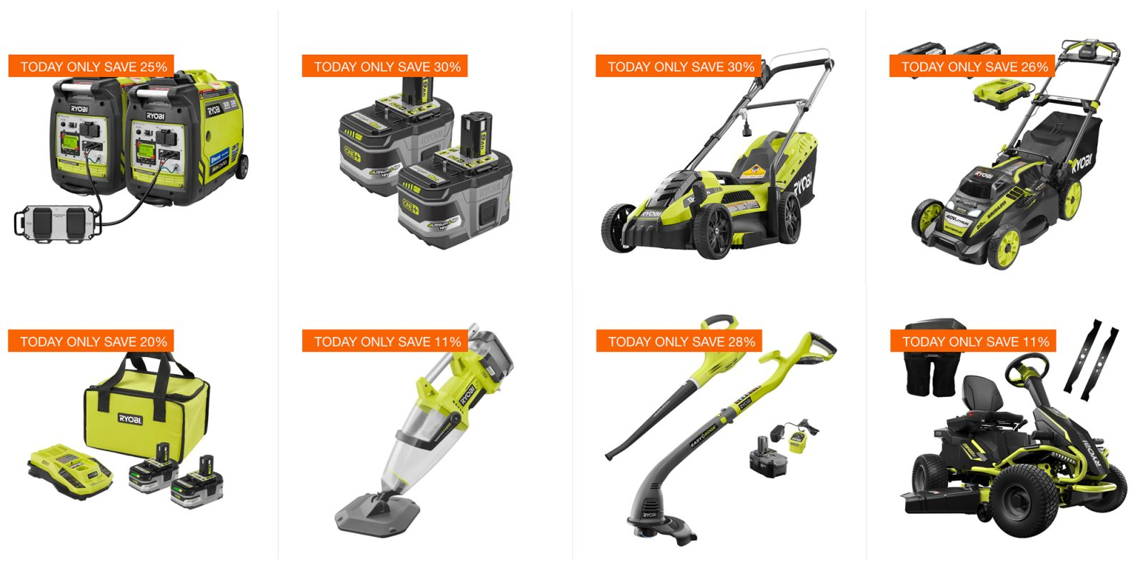 Save On Ryobi Power Tools Lawn Mowers And More Today Only