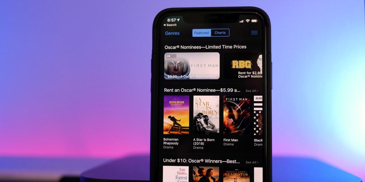 iTunes Oscars Movie Sale App