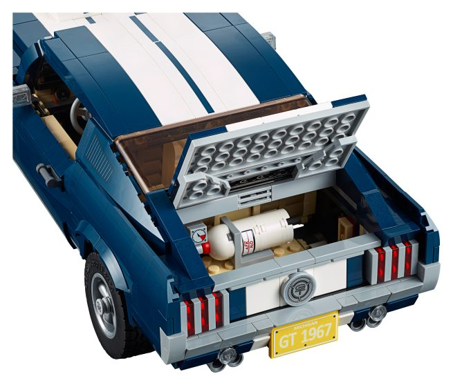 LEGO Ford Mustang trunk