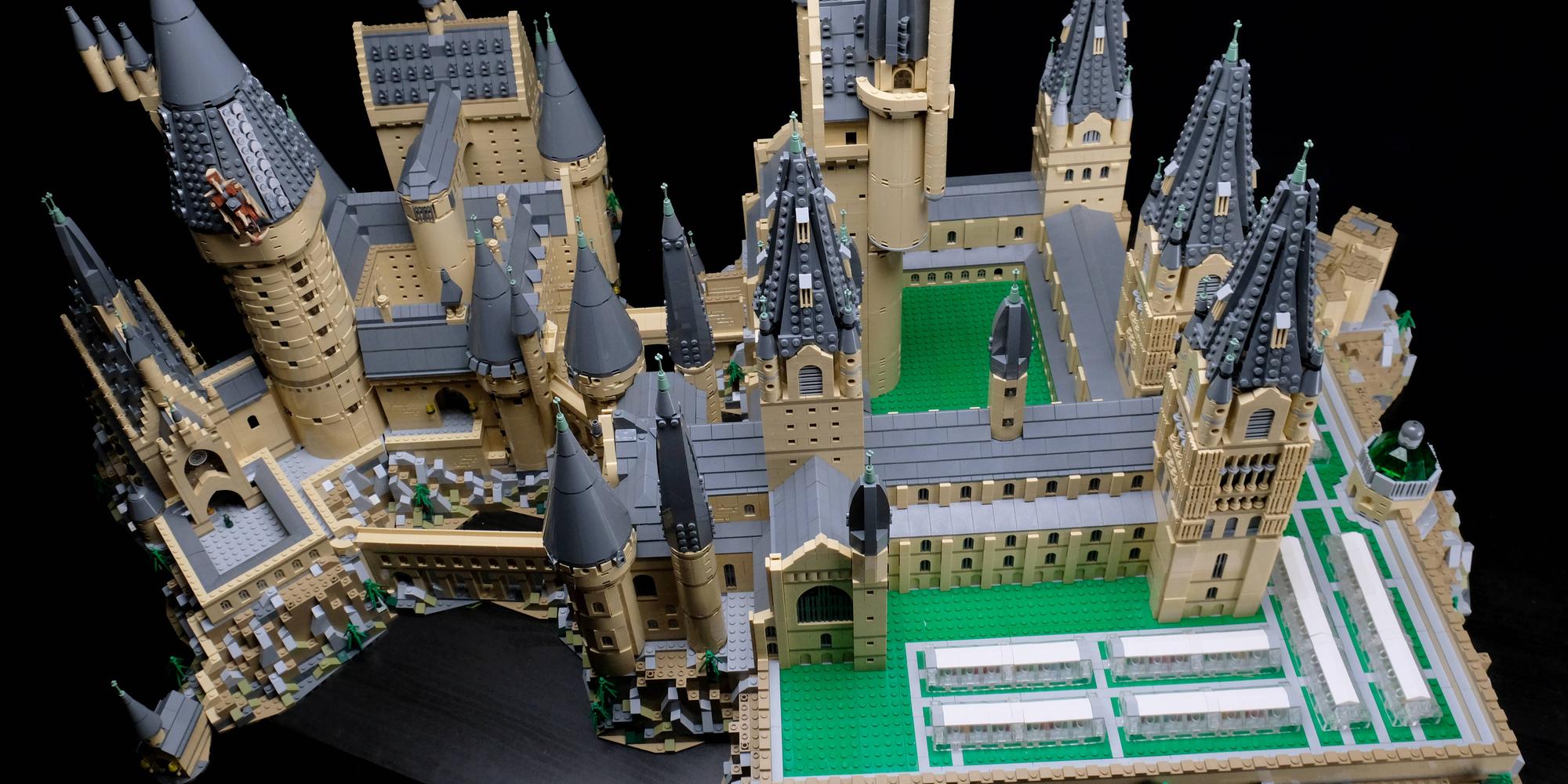 LEGO Hogwarts Castle expansion as seen overhead